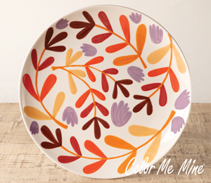 West Edmonton Mall Fall Floral Charger