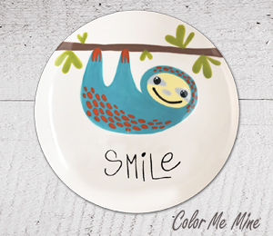 West Edmonton Mall Sloth Smile Plate