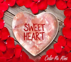 West Edmonton Mall Candy Heart Plate