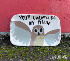 West Edmonton Mall Owl Plate