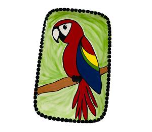West Edmonton Mall Scarlet Macaw Plate